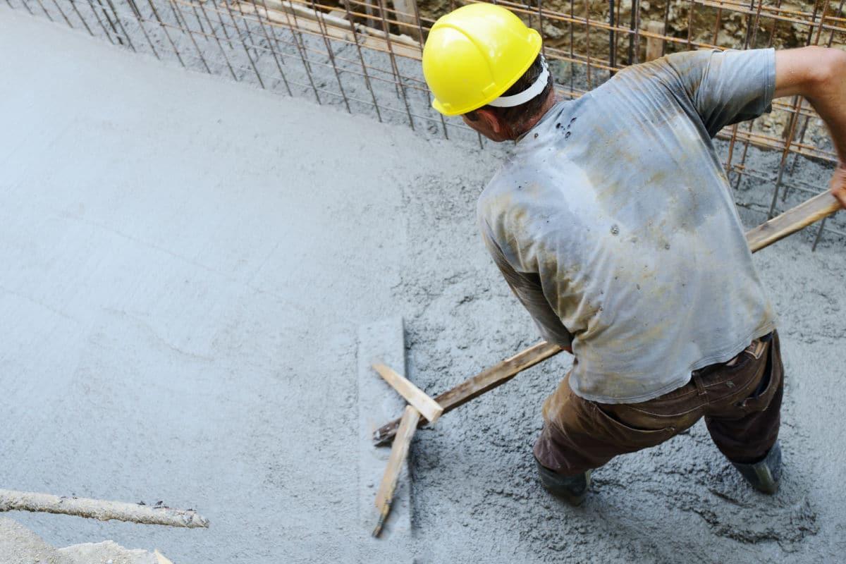 Zelf betonvloer storten